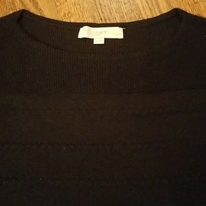 LOFT Boatneck Sweater in Black!